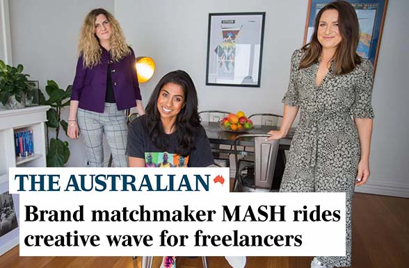 The Australian: Brand matchmaker MASH rides creative wave for freelancers
